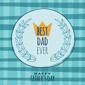 Fathers Day retro vintage greeting card vector design. — Stock Vector