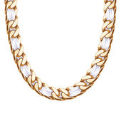 Chunky chain golden metallic necklace or bracelet. — Stock Vector