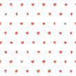 Постер, плакат: Seamless polka dot hearts pattern