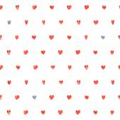Seamless polka dot hearts pattern. — Stock Vector