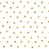Seamless polka dot golden pattern. — Stock Vector