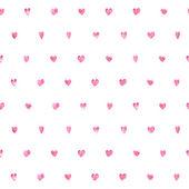 Nahtlose Herzen Punktmuster. — Stockvektor