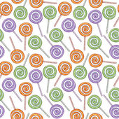 Colorful lollipops seamless pattern. Sketch style. — Stock Vector