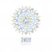 Elegant gemstones vector jewelry decoration. — Stock Vector