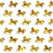 Racing horses seamless pattern. Vector background. — Stock Vector