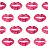 Red woman lips seamless pattern. — Stock Vector