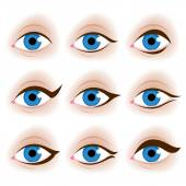 Realistic womans eyes vector illustration. — Stock Vector