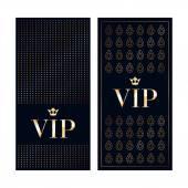 VIP invitation cards premium design templates. — Stock Vector