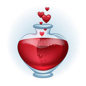 Love potion icon beautiful vector illustration. — Stock Vector