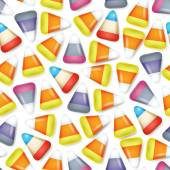 Colorful candy corn seamless pattern vector illustration. — Stock Vector