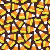 Candy corn seamless pattern vector illustration. — Stock Vector