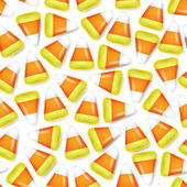 Candy corn seamless mönster vektor illustration. — Stockvektor