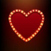 Light bulbs vintage neon glow frame vector illustration. — Stock Vector