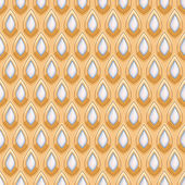 Gold and pearls seamless indian style pattern. — Stock Vector