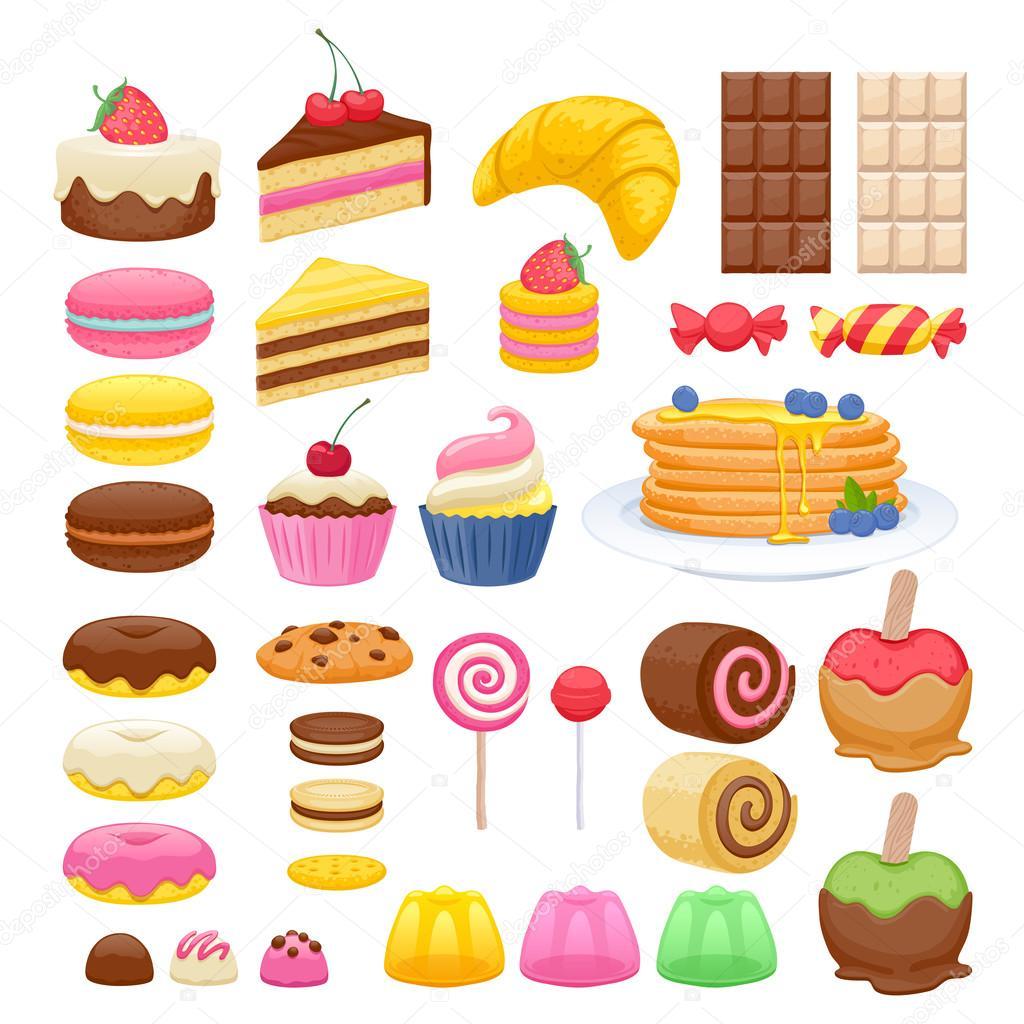 conjunto de iconos de alimentos dulces vector de stock cake clipart yummy cake clip art free images