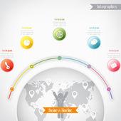 Zakelijke tijdlijn infographics, vectorillustratie voor banner, — Stockvector