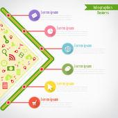 Business infographics, Vector illustration for  banner, web desi — Vettoriale Stock