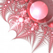Light red fractal thorns, digital artwork for creative graphic design — Stock Photo #59511523