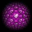 Pink sphere with fractal hearts, digital artwork for creative graphic design — Stock Photo #59512823