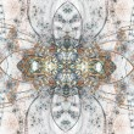 Clockwork themed fractal kaleidoscope, digital artwork for creative graphic design — Stock Photo #59512849