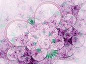 Purple fractal flower, digital artwork for creative graphic design — Stock Photo