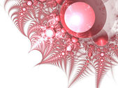 Light red fractal thorns, digital artwork for creative graphic design — Stock Photo