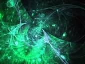 暗い緑フラクタル テクスチャ、創造的なグラフィック デザインのためのデジタル アート — ストック写真