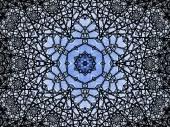 Snowflake shaped fractal mandala, digital artwork for creative graphic design — Stock Photo