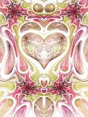 Abstract fractal heart, digital artwork for creative graphic design — Stock Photo