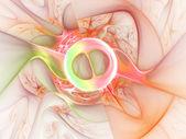 Light colorful fractal explosion, digital artwork for creative graphic design — Stock Photo