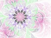 Light pink fractal flower, digital artwork for creative graphic design — Photo