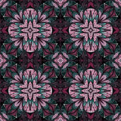 Seamless floral fractal tile, digital artwork for creative graph — Stock fotografie