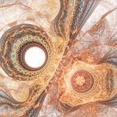 Gold fractal lace pattern, digital artwork for creative graphic design — Foto de Stock