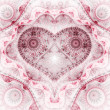 Clockwork red fractal heart, valentine's day motive, digital artwork for creative graphic design — Stock Photo #62039021