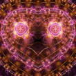 Pink and gold fractal heart, valentine's day motive, digital artwork for creative graphic design — Stock Photo #62039429