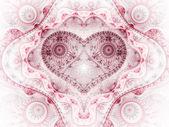 Clockwork red fractal heart, valentine's day motive, digital artwork for creative graphic design — Foto de Stock