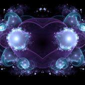 Dark blue fractal heart, valentine's day motive, digital artwork for creative graphic design — Stock fotografie