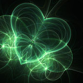 Dark green fractal heart, valentine's day motive, digital artwork for creative graphic design — Foto de Stock