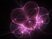 Dark purple fractal heart, valentine's day motive, digital artwork for creative graphic design — Stock fotografie