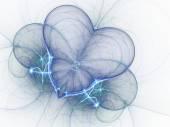 Light blue fractal heart, valentine's day motive, digital artwork for creative graphic design — Zdjęcie stockowe