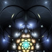 Dark colorful fractal heart, valentine's day motive, digital artwork for creative graphic design — Stock fotografie
