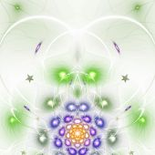 Colorful fractal heart, valentine's day motive, digital artwork for creative graphic design — Stok fotoğraf