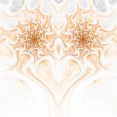 Gold fractal heart, valentine's day motive, digital artwork for creative graphic design — Stockfoto