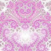 кружащееся розовое рекурсивное сердце, повод дня святого валентина, цифровое произведение искусства для творческого графического дизайна — Стоковое фото