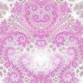 Swirly pink fractal heart, valentine's day motive, digital artwork for creative graphic design — Stock Photo