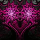 Pink fractal heart, valentine's day motive, digital artwork for creative graphic design — Stock fotografie