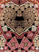 Pink clockwork fractal heart, digital artwork for creative graphic design — Stok fotoğraf