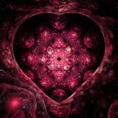 Abstract fractal heart, digital artwork for creative graphic design — Stock fotografie