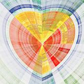 Bright happy fractal heart, digital artwork for creative graphic design — Stock Photo