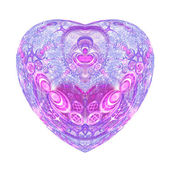 Pink intricate isolated fractal heart, digital artwork for creative graphic design — Stock Photo